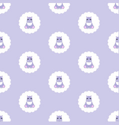 hippo baby seamless pattern vector image
