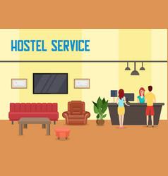 Hostel service flat vector