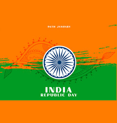 India republic day background with paisley design vector