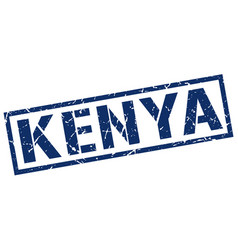 Kenya blue square stamp vector