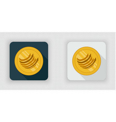Light and dark factom crypto currency icon vector