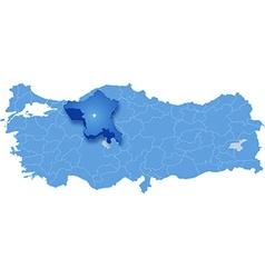 Map of Turkey Ankara vector