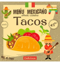 Mexican Menu Tacos vector
