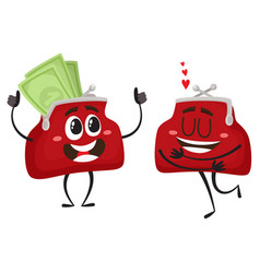 Money wallet character set vector