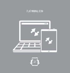 multi devices synchronization icon vector image