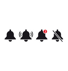 notification bell icon alarm symbol incoming vector image