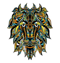 Ornamental Tattoo Lion vector