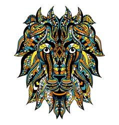 Ornamental Tattoo Lion vector