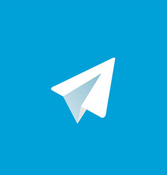 Paper aircraft logo icon vector
