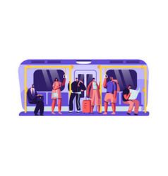 passengers in underground urban public metro vector image