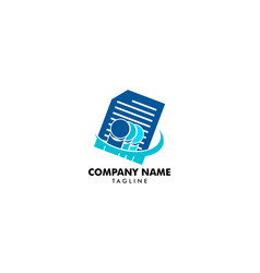 people and document or paper sheet icon logo vector image