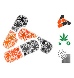 Pills mosaic of cannabis vector