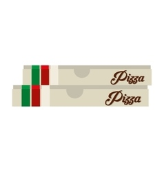 Pizza box delicious isolated icon vector