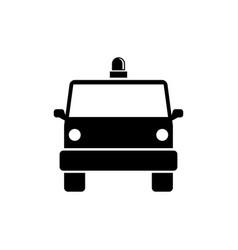 police van special forces minibus flat icon vector image