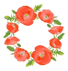 Poppies wreath vector
