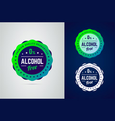 premium quality guarantee non-alcoholic product vector image