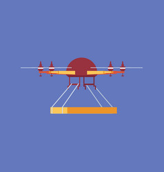 quadrocopter or quadrotor helicopter delivery vector image