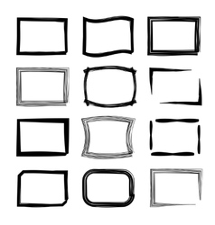Rectangular frames Felt-tip pen and marker style vector