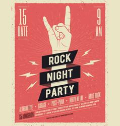 Rock music festival flyer vector