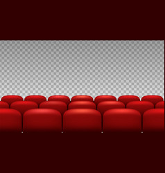rows seats red theater movie opera seats isolated vector image