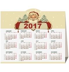 Santa Claus holding Calendar for 2017 vector