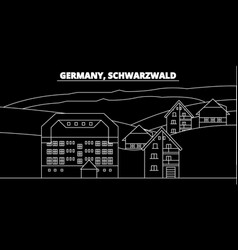 Schwarzwald silhouette skyline germany vector