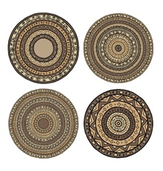 Set of ethnic mandala vector