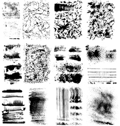 Set of textures vector image