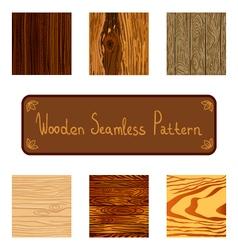 Set wooden seamless pattern vector
