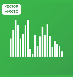 Sound waveform icon business concept sound waves vector