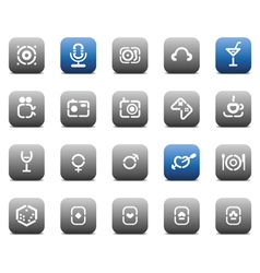 Stencil matt buttons for business vector image
