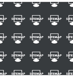 Straight black sitemap pattern vector image