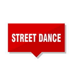 street dance red tag vector image