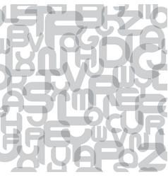 stylish seamless alphabet pattern fashion vector image