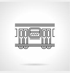 subway wagon flat line icon vector image
