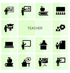 Teacher icons vector