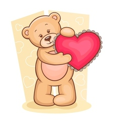 Teddy Bear with heart vector image