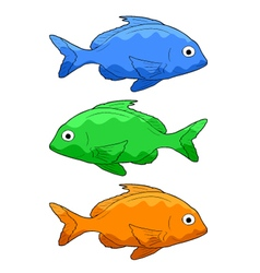 three fishes vector image