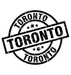 Toronto black round grunge stamp vector