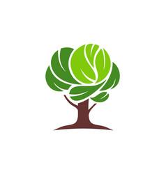 tree logo icon green concept vector image