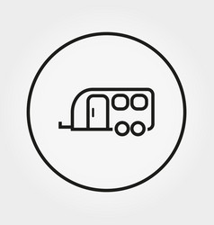 van house on wheels camping icon vector image