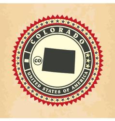 vintage label-sticker cards colorado vector image