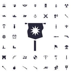 War flag icon vector