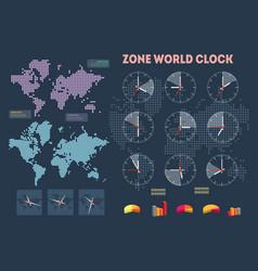 world time infographics vector image
