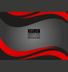 abstract geometric black and red color wave with vector image