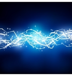 Lightning background Energy flow vector image