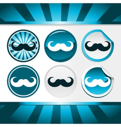 Movember Mustache Awareness Buttons vector image vector image