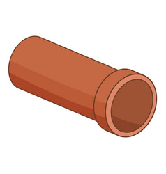 plastic pipe icon cartoon style vector image