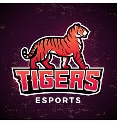 Premade tiger mascot Sport logo design vector image vector image