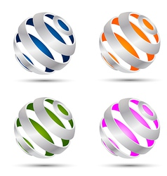Set of abstract spheres vector image vector image